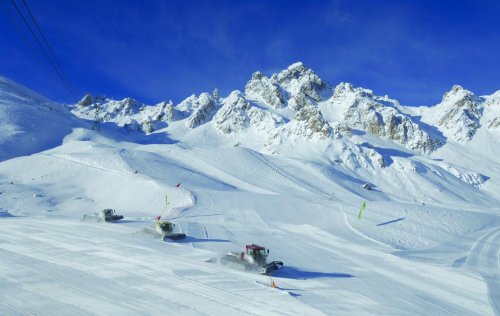 Courchevel's beautifully-groomed pistes