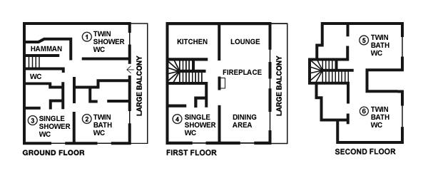 Chalet Eagle's Nest floorplans