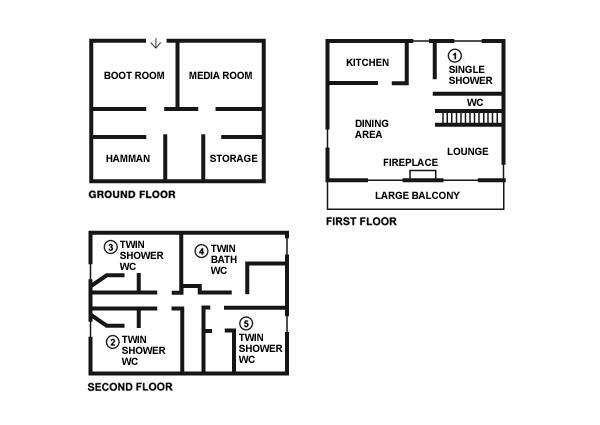 Chalet Golden Eagle floorplans