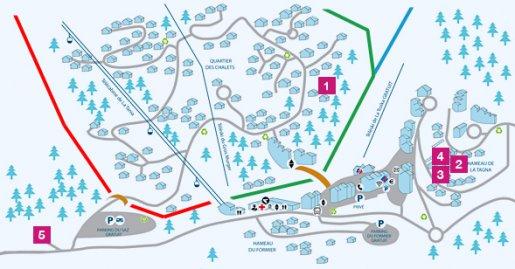 Village maps Le Ski