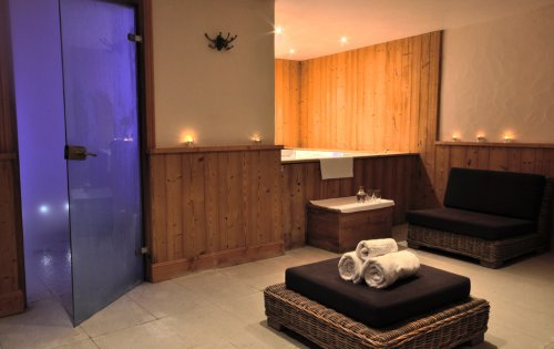 Chalet Orchidee's spa area